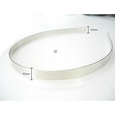 """10mm (3/8"""") metal headbands hair accessory wholesale lots silver craft supplies"""