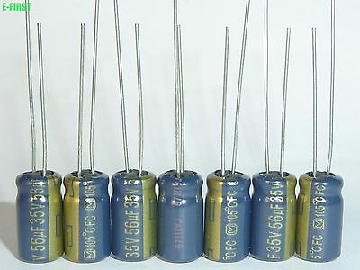68uF 35v x10  Low-ESR radial capacitors 105C Panasonic FC 6.3 X 11mm