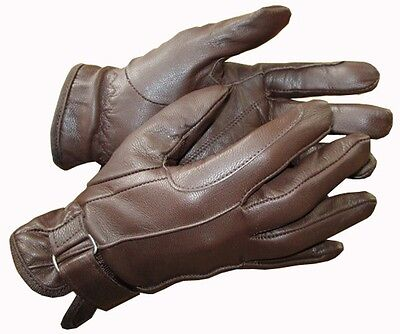 Ladies Black or Brown Tan Leather Gloves Horse Riding Small Medium Large XS