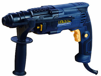 GMC SDS + Plus Hammer Drill 550W, Drill & Hammer Action, Impact Stop. With Case