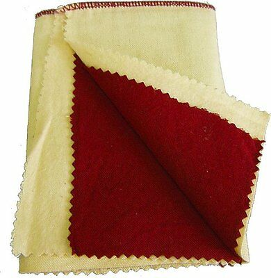 """6 x 6"""" Yellow & Red Jewelry Polishing Buffing Cloth Silver Gold Metal #JT-PC66YR"""