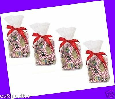 100 COUNT = 4 Gift Bags Ghirardelli Milk Chocolate Candy Squares Peppermint Bark