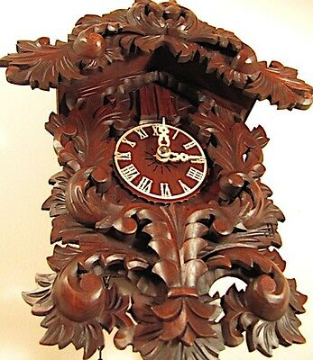 Black Forest Hand Carved Baroque German 8 Day Cuckoo Clock Model #8228