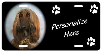 Afghan  Hound  Personalized automobile license plate