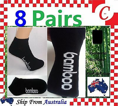 8Prs Mens Men Bamboo Low Cut Sport Ankle Cushion SOCKS Odor Resistant Size 6-11