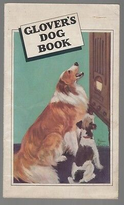 "[33797] 1937 ""glover's Dog Book"" Pet Care Booklet"