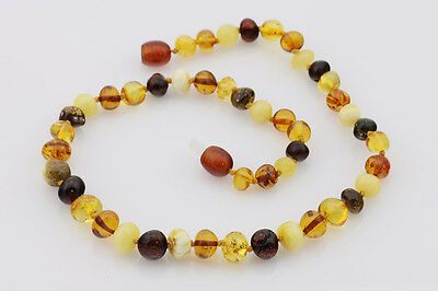 """Baby Children Large Baroque Beads BALTIC AMBER Necklace 13"""""""