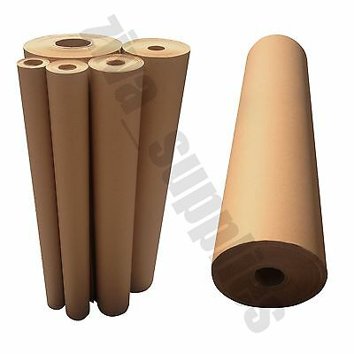 BROWN KRAFT WRAPPING PAPER~750mm Roll~50/100/225m Heavy Duty Strong Parcel