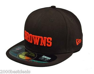 size 40 75053 3c025 New Era 59Fifty Nfl Cap Cleveland Browns Football On Field Fitted 5950 Team  Hat