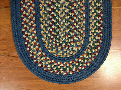 Thick Luxurious Reversible Braided Wool Area Rug Oval, Round Made in USA (TA-12