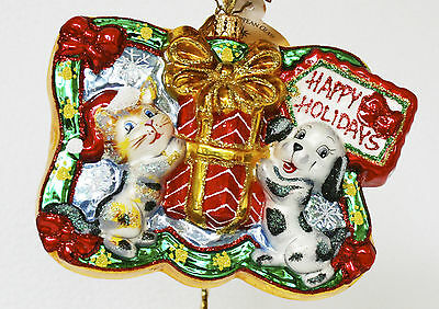 Christopher Radko Gifted Paws Ornament NEW