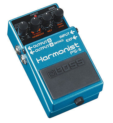 Boss PS-6 Harmonist / Pitch Shifter Guitar Pedal With Free 5-Year Warranty - New