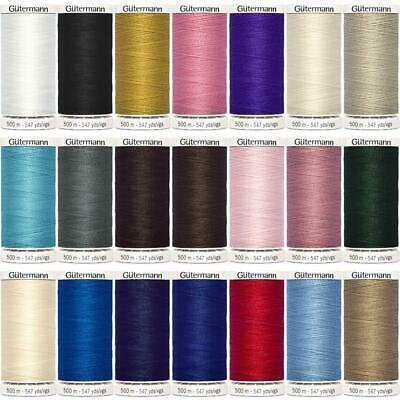 23 COLOUR 100m 250m 500m Gutermann Sew All Thread Sewing Polyester BUY 1 2 REELS