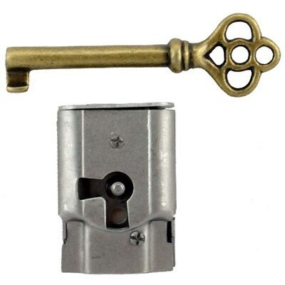 "S-15 Full Mortise Cabinet and Door Lock with Key 1-7/16"" H x 1"" W x 5/16"" thick"