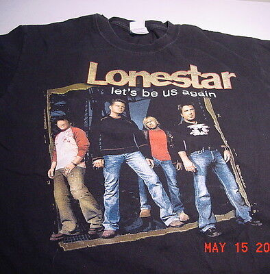 """Country Music LONESTAR """"Let's Be Us Again"""" TOUR (L) Tee"""