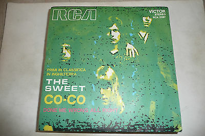 "THE SWEET""CO CO-disco 45 giri RCA Italy1971"""