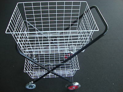 "HEAVY DUTY Shopping Trolley 2 BASKET 2 Swivel 5"" wheels  2  fixed 6"" wheels"