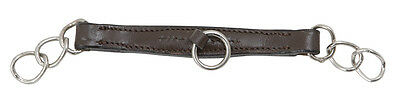NEW Shires Leather Curb Chain Strap - Pony / Cob / Full - Havana Brown / Black