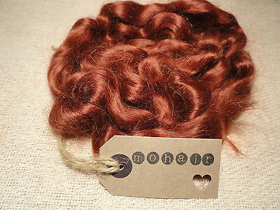 30g (approx.1oz)  MOHAIR. DARK AUBURN - waves