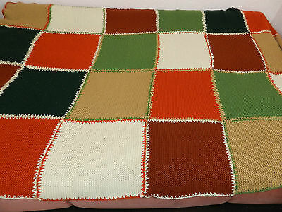 """Antique hand knitted, blankets  70""""/107"""" n719"""