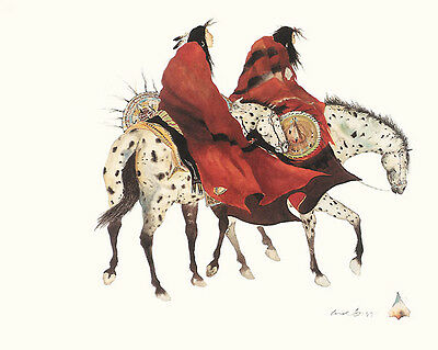 The Loss Carol Grigg Print Ethnic Native American Horses Southwest Poster
