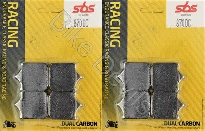BMW S1000RR S1000R Front Brake Pads 2009-2018 Race Dual Carbon SBS 870 DC Track