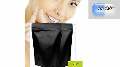 100 x Stand-Up Foil Pouches  235mmW x 335mmL matt black Zip-Lock reclosable 1kg