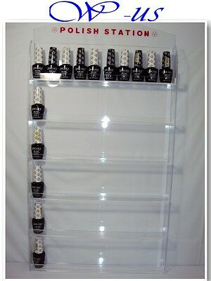 Nail Polish Wall Rack Display Acrylic hold up 60 bottles ( With header design )