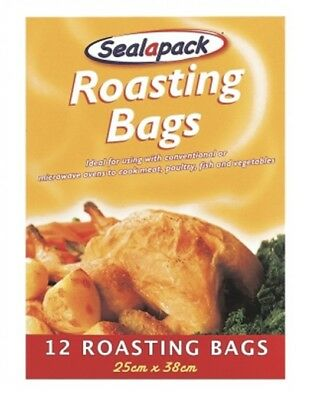 12 Pack Sealapack Turkey Chicken Meat Roasting Bags Oven Cooking Bags 25 x 38cm