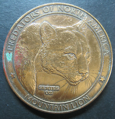 Mountain Lion - Predators of N. America Collector's Series 2 Medallion! NAHC !