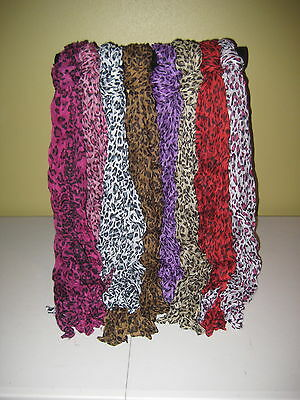 NWT Girls Size Accessory Scarves Cotton Scarf Polka Dot turquoise pink purple