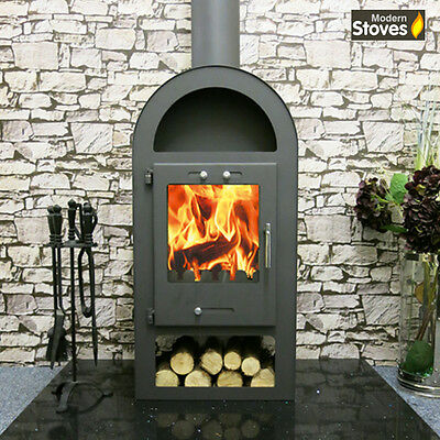 Wood Burning Contemporary Multi fuel Stove 10kw Henley Wood Burner Fire