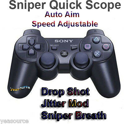 New Sony PS3 DualShock3 Drop Shot Rapid Fire Controller Quick Scope 10 Modes USA