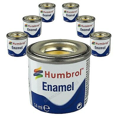 6 X Humbrol Enamel Model Paints (14ml) - Choose your colours - Humbrol paints