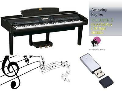 CLAVINOVA CVP 500 600 SERIES USB-Stick+AMAZING Song Styles VOLUME 2 NEW
