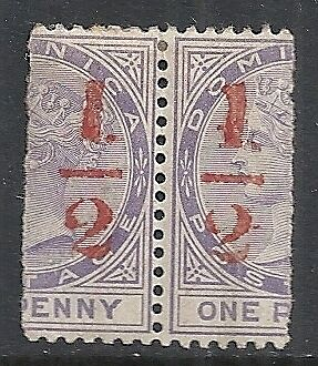 Dominica 1882 SG 11 in PAIR  MLH  VF