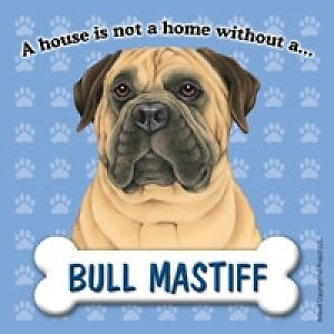 A House Is Not A Home Without A Bullmastiff Fridge Refrigerator Magnet - NEW
