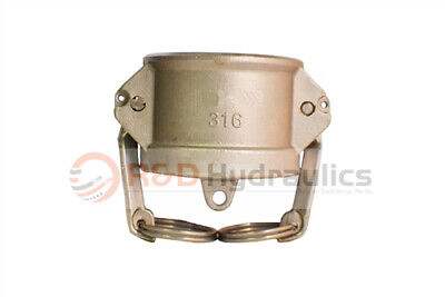 """3"""" Type 300DC 316 Stainless Steel Dust Cap"""