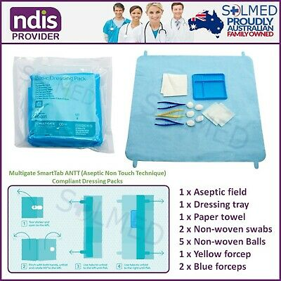 2 X Packs First Aid Wound Dressing Pack Sterile