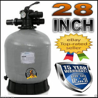 "New 2016 Genuine 28"" Pool Sand Filter Fibreglass Fiberglass Swimming 28 Inch"