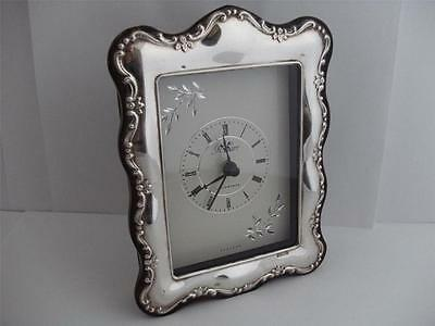 SOLID SILVER CLOCK Sheffield 1997