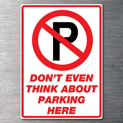 No parking  24hrs sticker large 290mm x 190mm free post