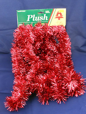 15 foot Garland Red Thin Cut  (plush)