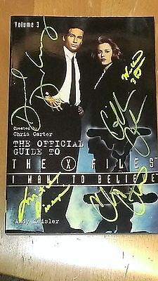 X-Files Autographed Book 15 Signatures