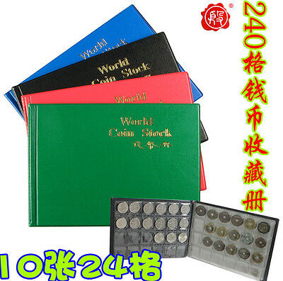 New Coin Album Holders for World Coin Collecting Book 240 Pockets total 10 pages