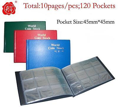 New Coin Album Holders for World Coin Collecting Book 120 Pockets total 10 pages
