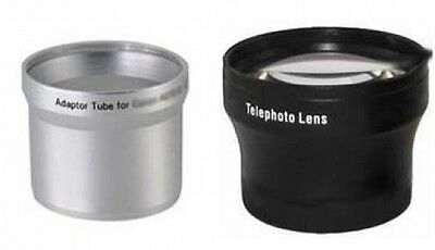 Telephoto Tele Lens +Tube Adapter bundle for Kodak EasyShare Z700 Digital Camera