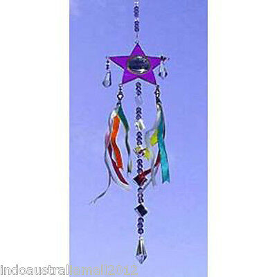 1 X  Beautiful Purple Star Shaped Light Catcher in Gift Box(SC015)