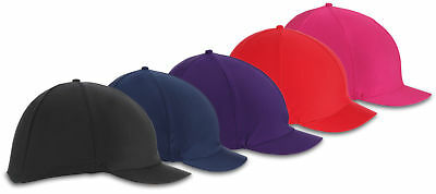SHIRES LYCRA HORSE RIDING HAT COVER 851 synthetic stretch covers silks
