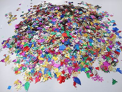 25g MIXED SIZED AND DESIGN SEQUINS SPANGLES  CRAFT SEWING 500+ EMBELLISHMENT